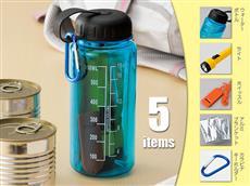 薄青色の防災専用ボトル5点セット